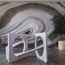High concept art table base