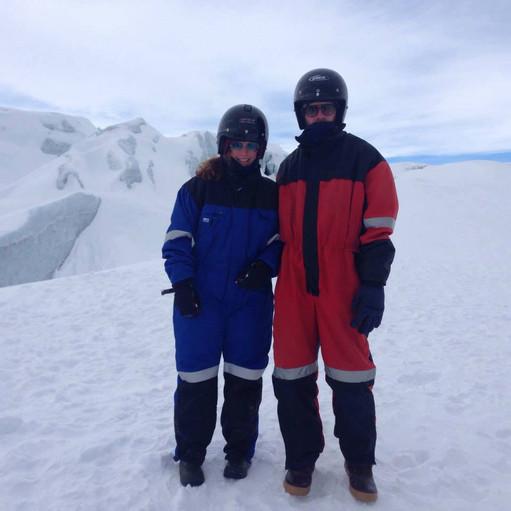 Shenangians on a glacier