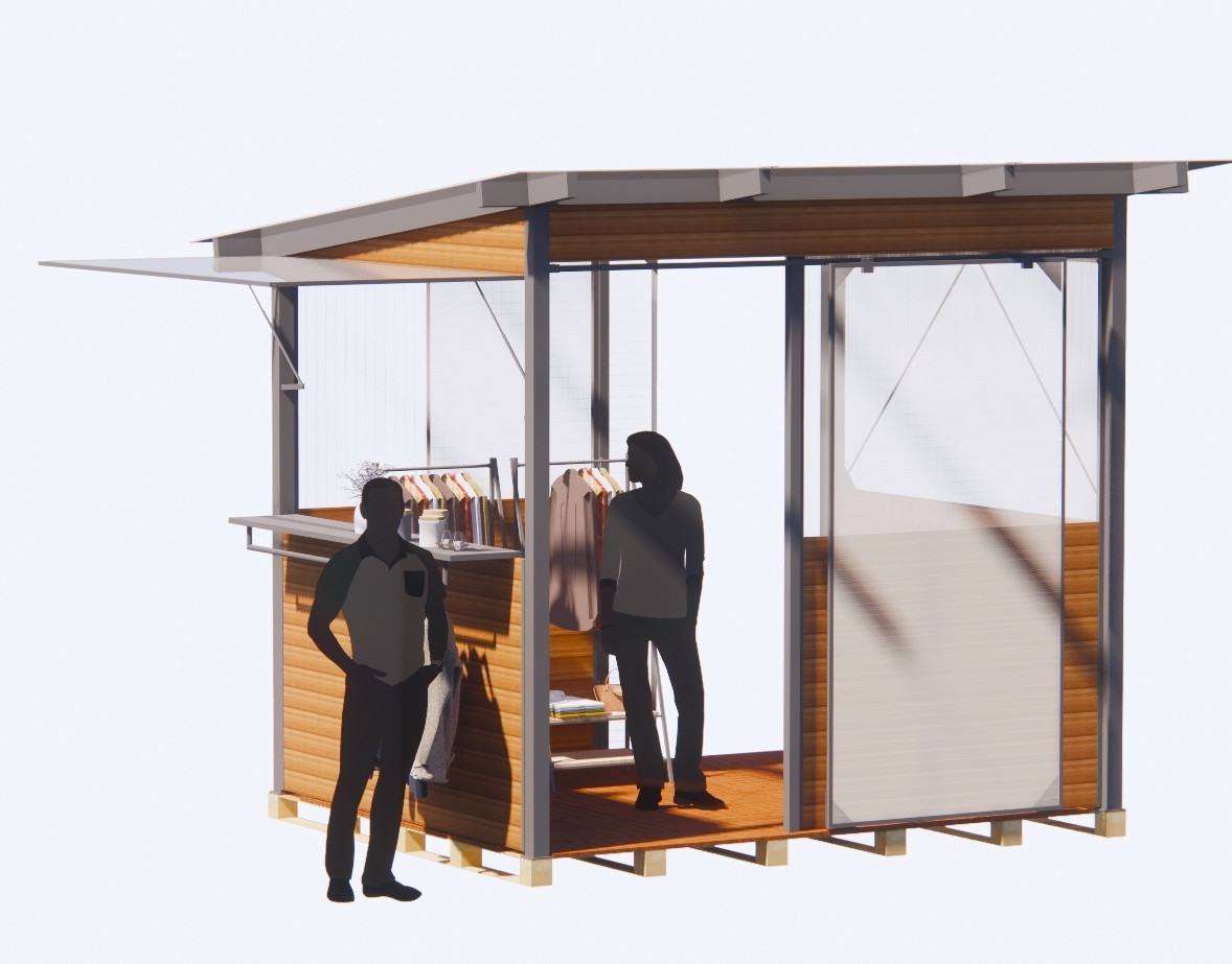 Parklet for outdoor retail
