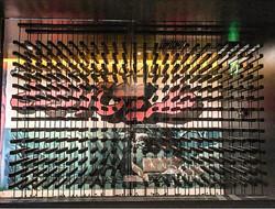 Functional metal art installation