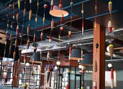 Custom restaurant decor