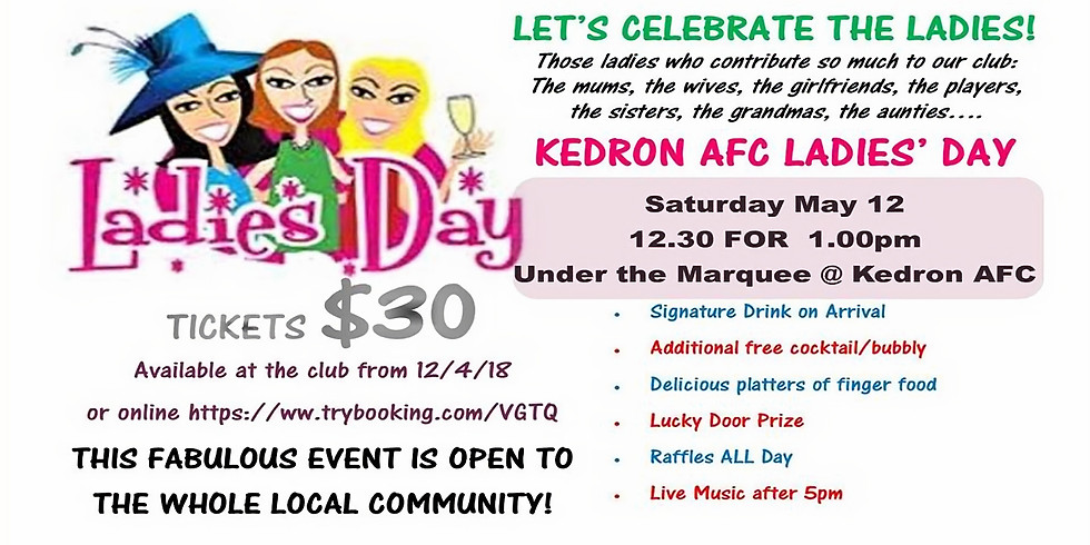LADIES DAY SAVE THE DATE