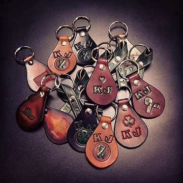 A whole batch of #teamjameson key fobs and ribbon keychains heading out the door.jpg
