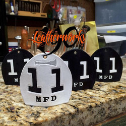 Now that they have been gifted, we can show off this set of keychains made for the crew at Engine 11