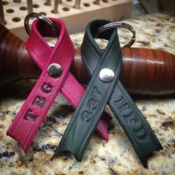 #190leatherworks #cancerawareness #leatherkeychain