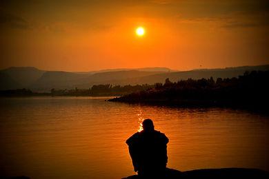 Boy-Alone-At-Sunset-Seating-Sadly-Sad-Wa