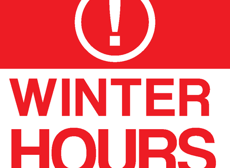 New Winter Hours at Langston & Rock Creek