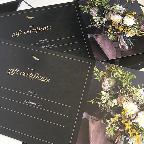Gift Certificate (from £25)