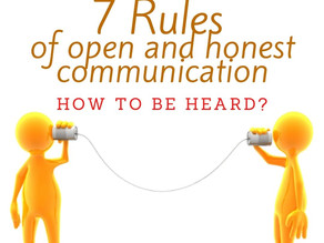 7 rules of open and honest communication