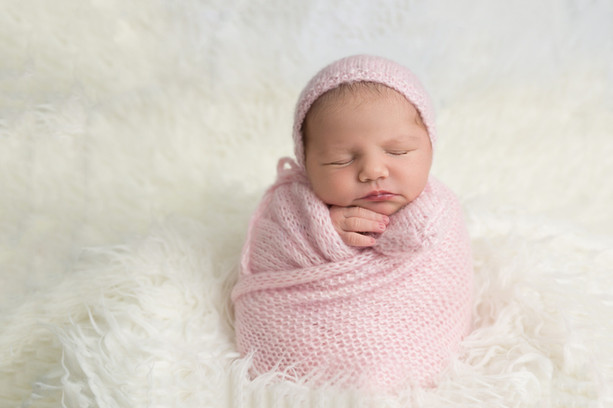 Potato Sack Pose for Newborns