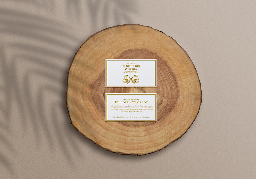 The SIres Duel card mockup on wooden stu