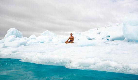 Wim Hof on an Iceberg