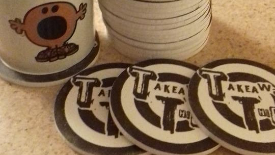 Bullseye Coasters