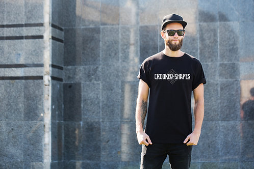 Mens Black Crooked Shapes Tshirt