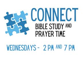Inside Wednesday Bible Study & Prayer Meeting at 2:00 & 7:00 p.m.