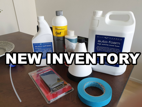 New Inventory - Testing snow foams, a wheel cleaner and some shampoo