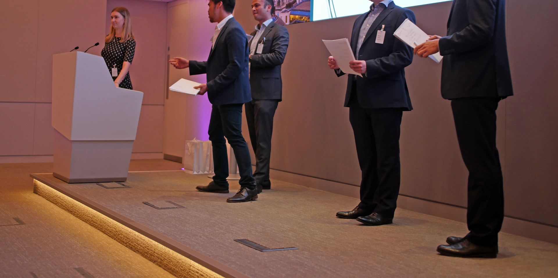 Judges Announcing the Winners