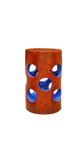 Jean Servais, Tabouret bois bleu.jpg