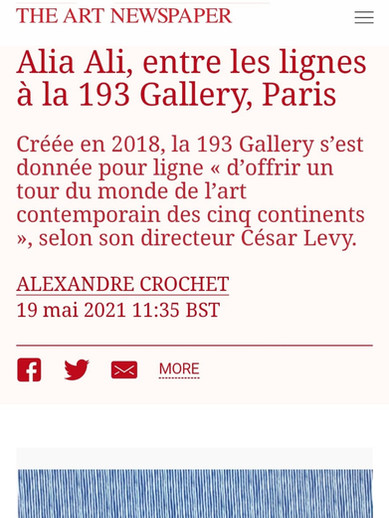 THE ART NEWSPAPER 19/05/2021