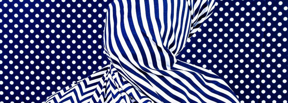 Stripes, Indigo Series, by Alia Ali 2021