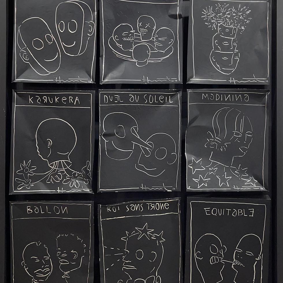 Jean-Marc Hunt - Black Paper - Duel au Soleil - 106 x 86 cm, 2016-2020