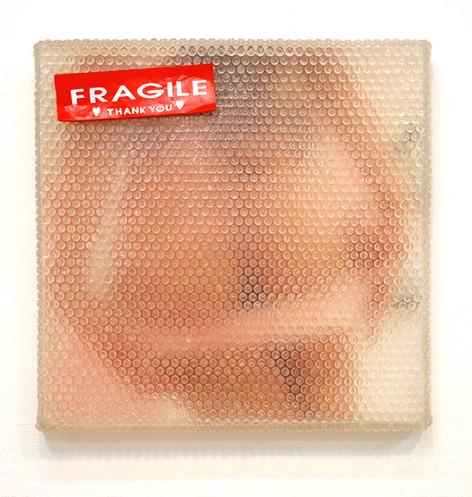 Fragile Résine, photographie et mixed media 47 x 45 cm