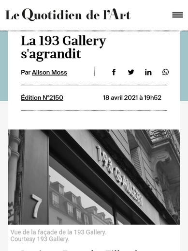 Le Quotidien de l'Art 18/04/2021