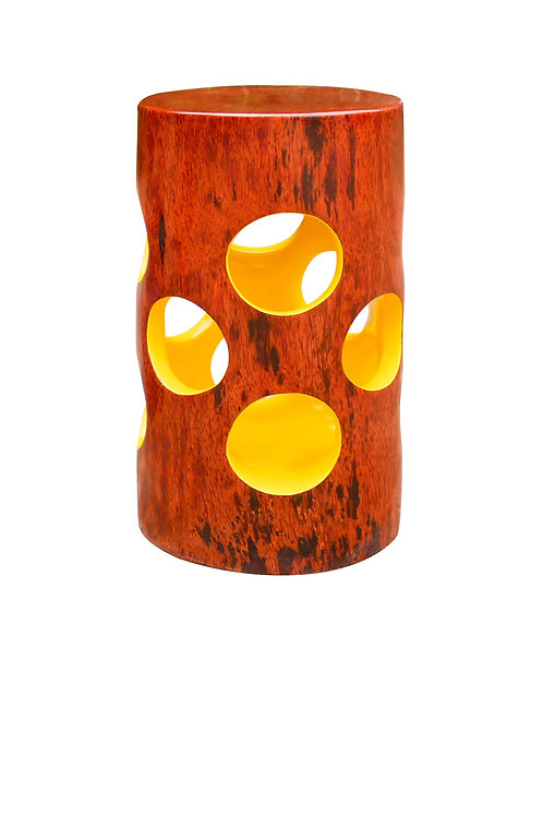 Jean Servais Somian - Yellow lace stool (Ivory Coast)