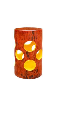 Jean Servais, Tabouret bois  jaune.jpg