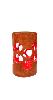 Jean Servais, Red wood stool.jpg