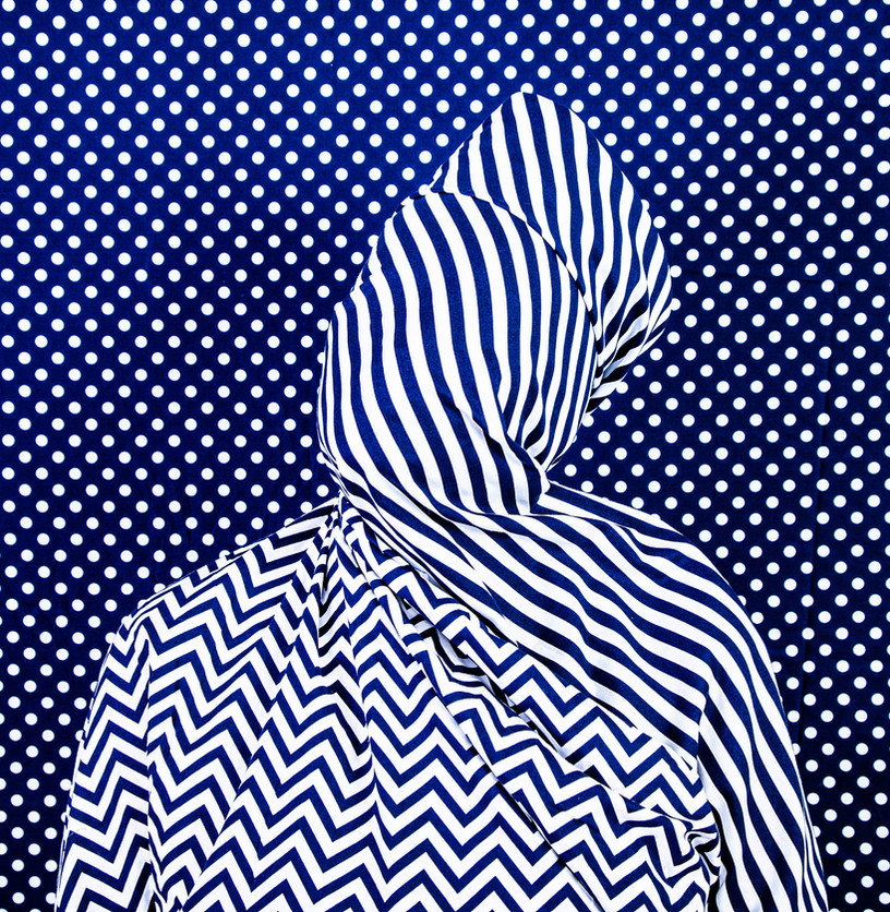 Alia Ali - Stripes, Indigo Series, 2021