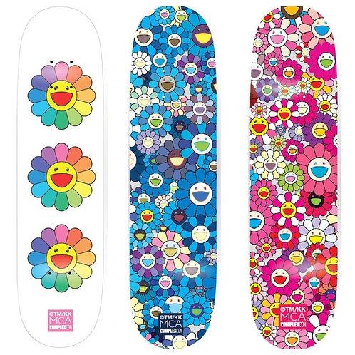 Takahi Murakami - Triptyque artboards Multi Flowers