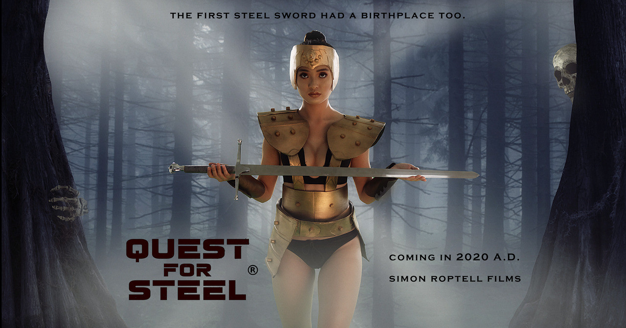 """Lorraine Hong as Tegra Fez in the fantasy movie """"Quest for Steel. © Simon Roptell Films. 2020 movie"""