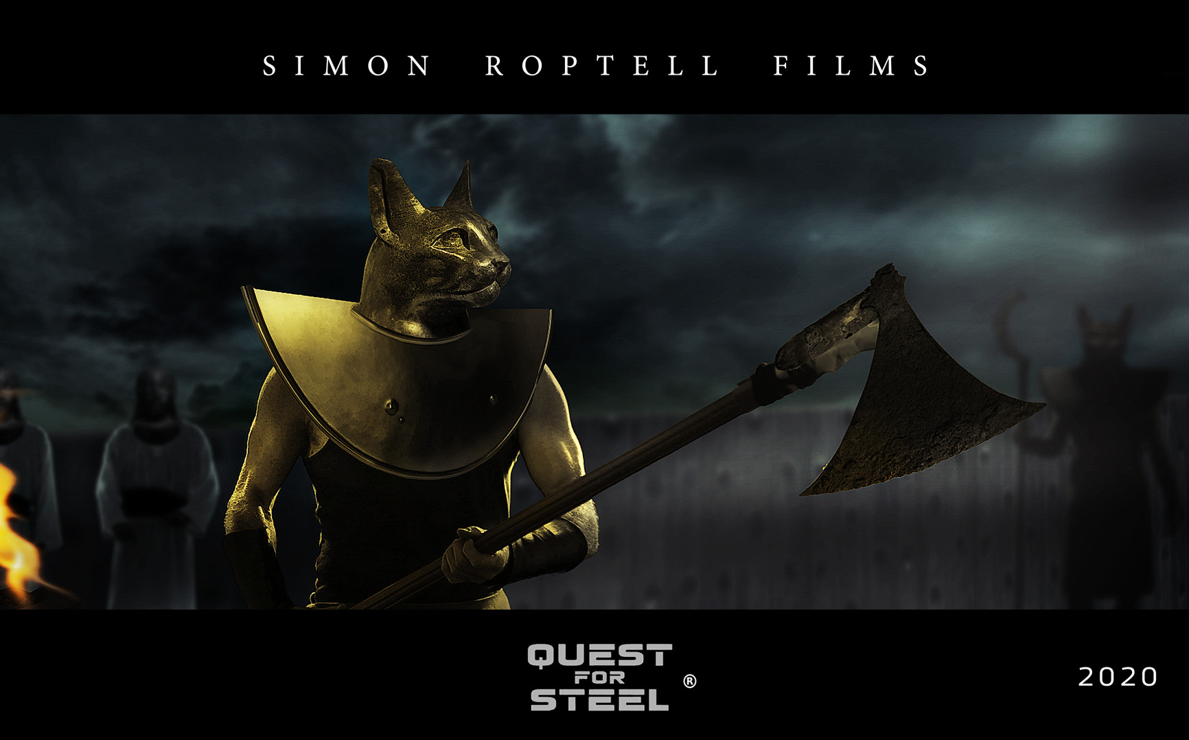Quest for Steel. Cat movie. Egyptian myt