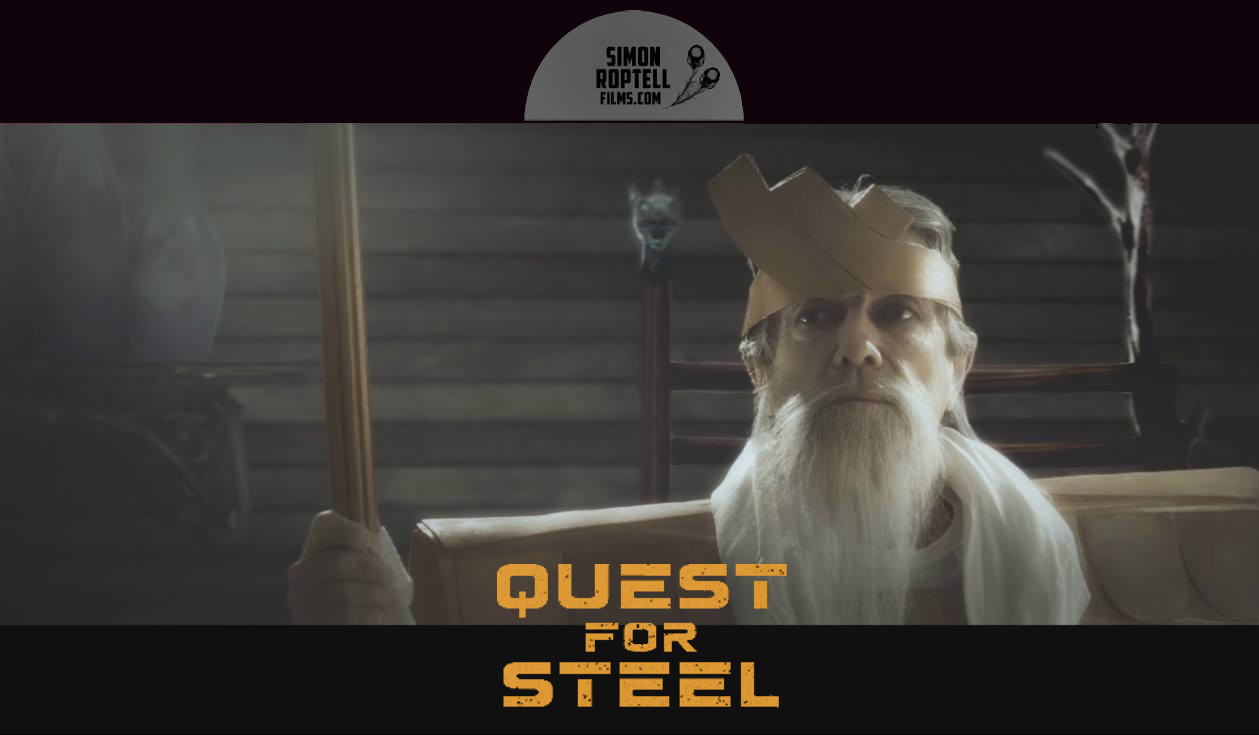 """James Charles as the Holy one in the fantasy movie """"Quest for Steel. © Simon Roptell Films. 2020 movie"""
