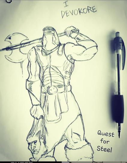Devokore art comic quest for steel