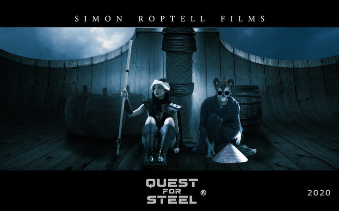 """Sword and sorcery movie """"Quest for Steel. © Simon Roptell Films. 2020 movie"""