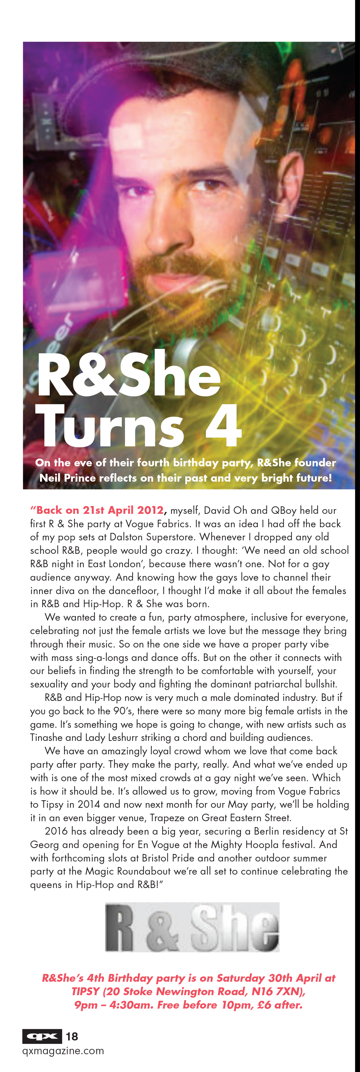 R & She - QX Interview April 2016