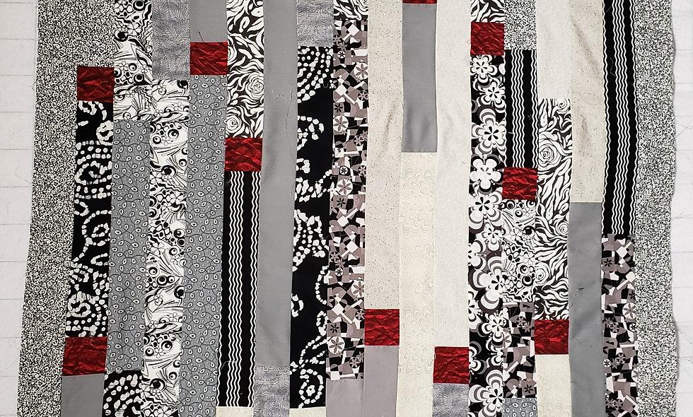 Cardinals in Birch Trees - Digital Quilt Pattern