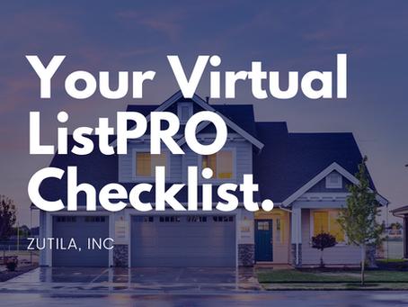 Your Virtual ListPRO Checklist