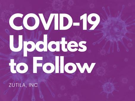 COVID-19 Updates from Zutila