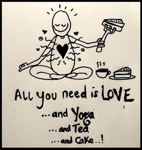 Love. Yoga. Tea. Cake