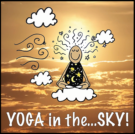 Yoga in the SKY front cover and instagra