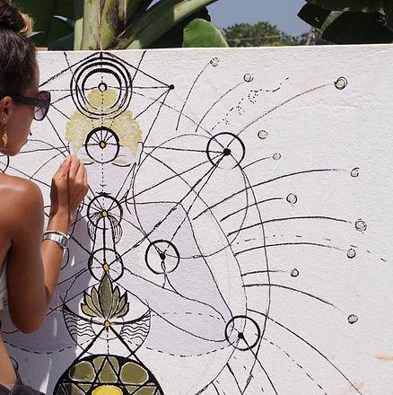 Mural Yoga little yogi india square.jpeg