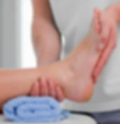 Hands on physiotherapy technique for foot pain