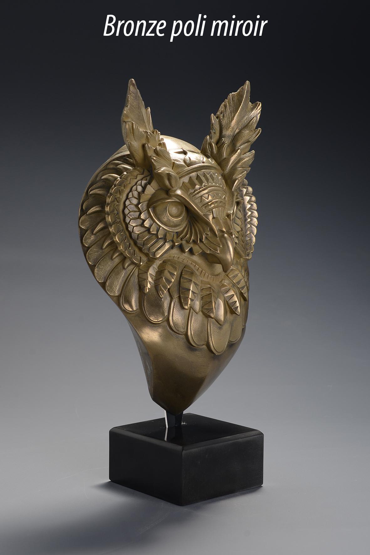 Hibou Bioworkz bronze poli miroir