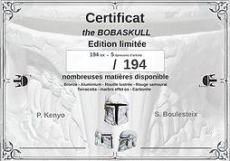 Certificat sculpteur édition limitée Boulesteix - Moko