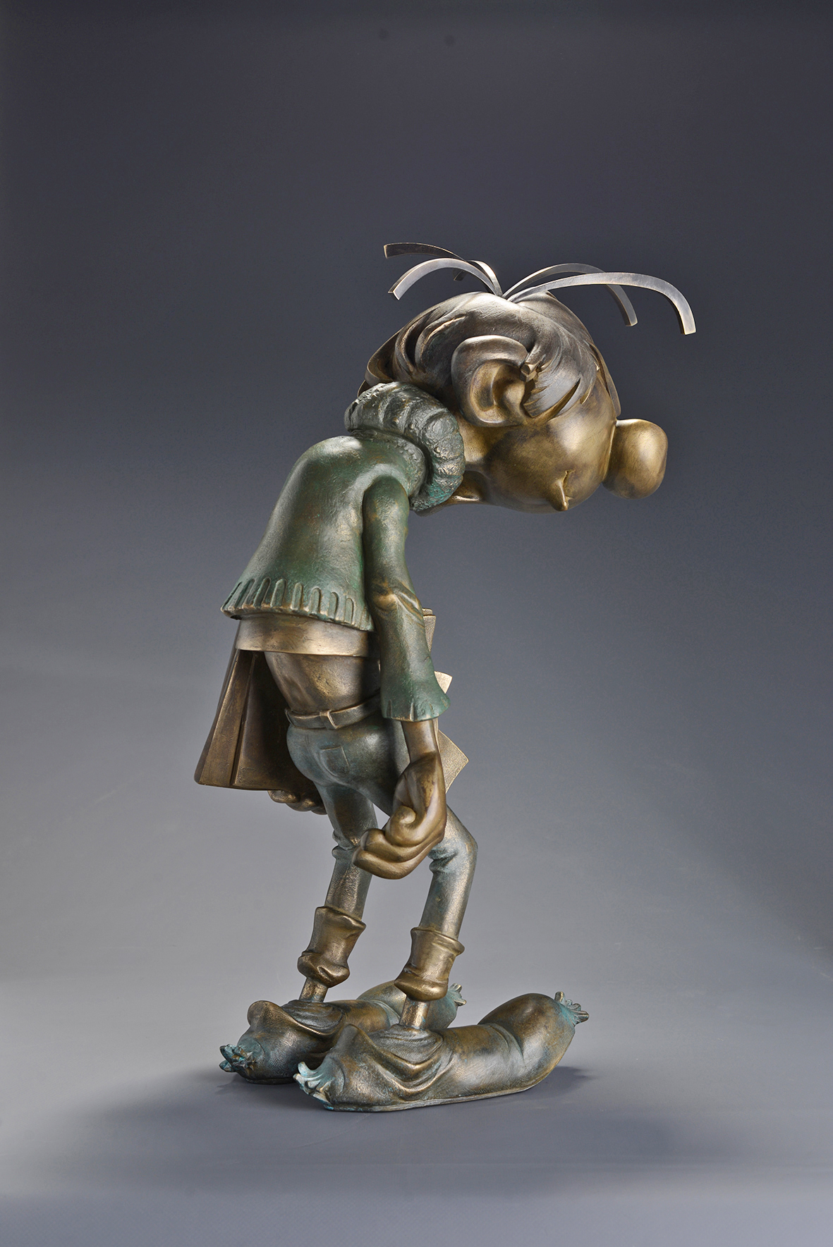 Gaston Lagaffe - Bronze composite
