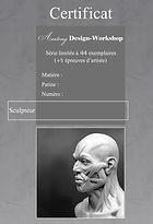 Certificat sculpteur édition limitée Boulesteix - Charagosse
