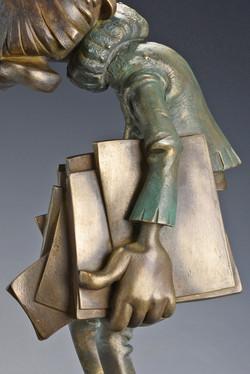gaston lagaffe bronze composite